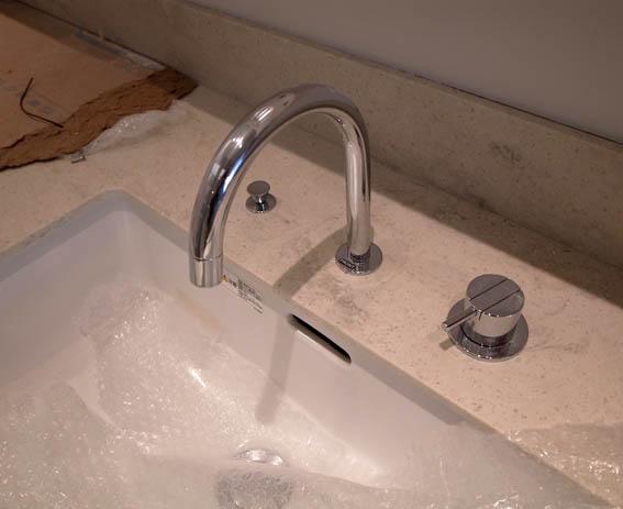 水栓金物の取付け状況確認