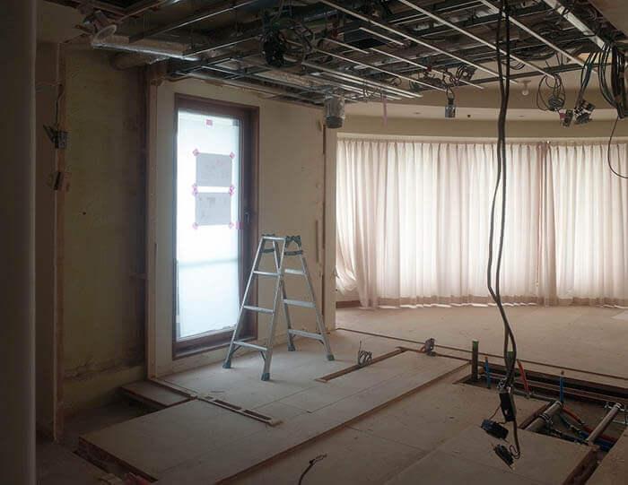 青山N邸のキッチン解体状況