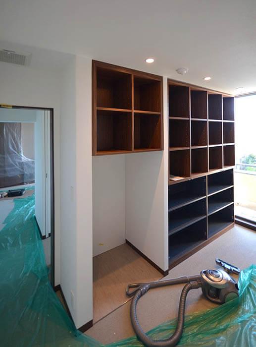 書斎造作家具設置