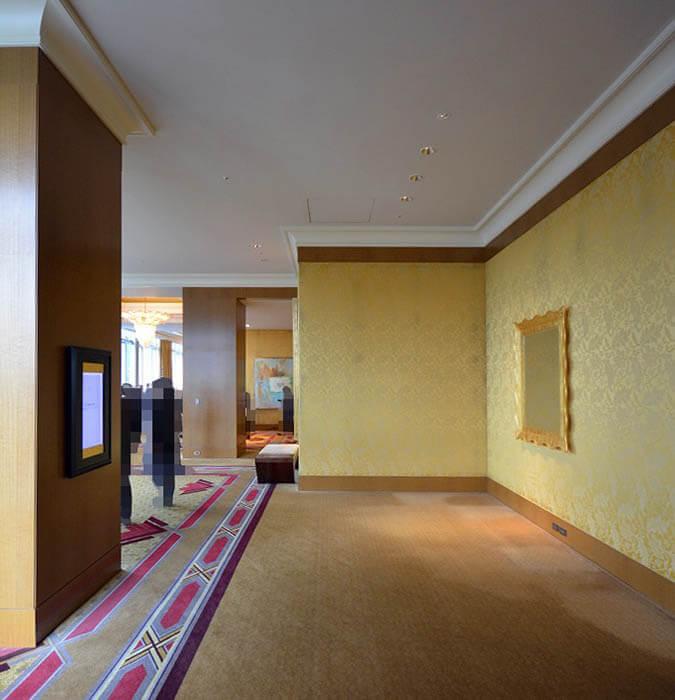 高級ホテルのインテリア視察
