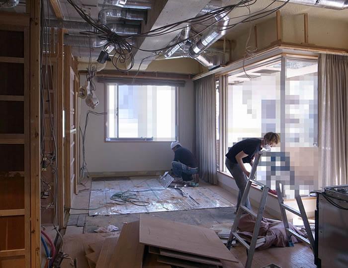リビングダイニングの解体工事@外苑前C邸