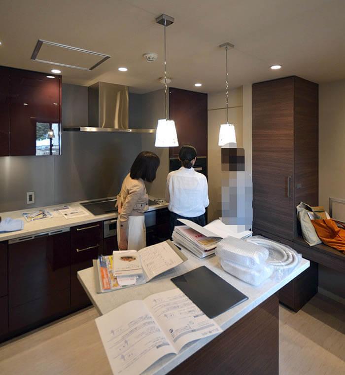 駒沢X邸竣工検査_リブコンテンツのオーダーキッチン
