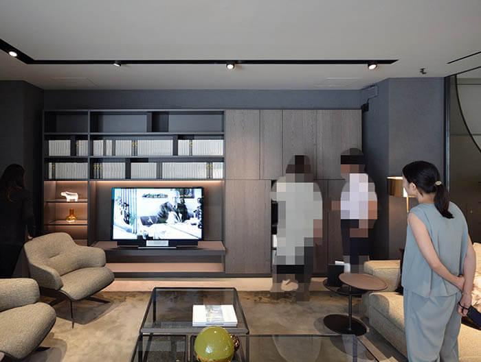 モルテーニ東京505壁面収納システム