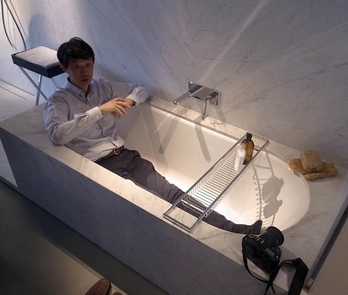 カルデバイの鋼製浴槽見学