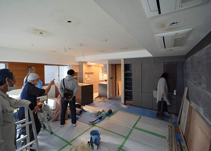 工事最終段階@麹町K邸リフォーム