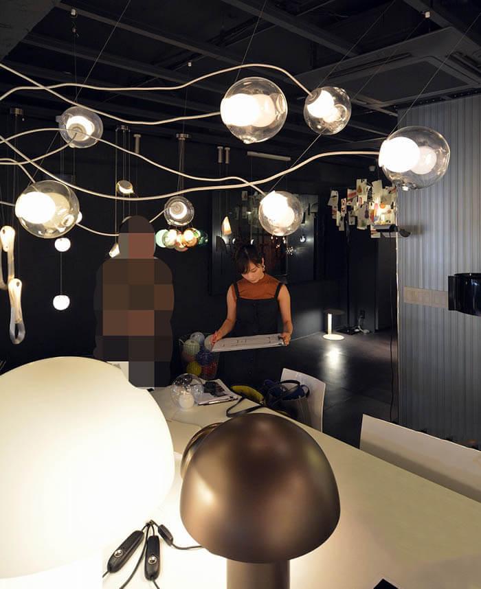 スタジオ・ノイの照明ショールーム