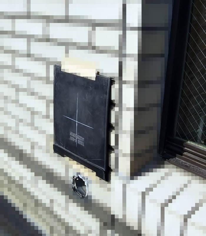 鉄筋コンクリート壁の鉄筋探索レントゲン写真撮影