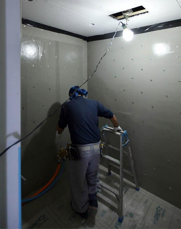 在来工法浴室の防水下地