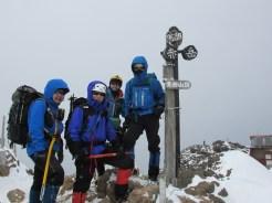 赤岳山頂2889m