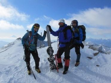 快晴の横岳山頂2829m