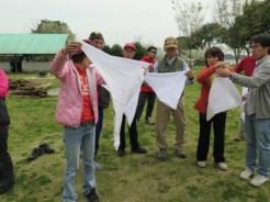 三角巾の講習