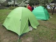 テント設営訓練