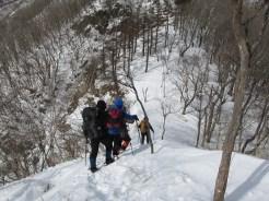 社山への道