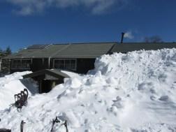 雪の中の蓼科山荘