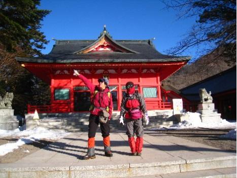 出発前 赤城神社に参拝