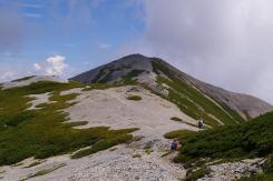 蓮華岳を望む
