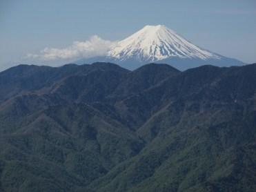 禿岩からの富士