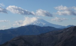 日向沢ノ峰あたりからの富士山