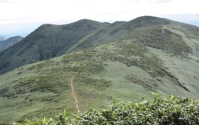 平標山から仙ノ倉山に続く稜線