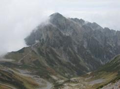 別山下山途中からの劔岳