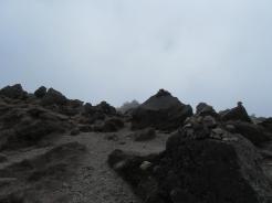 白根山頂上が見えた