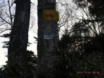 夕暮れの六林班峠
