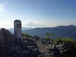 千枚岳からの富士山