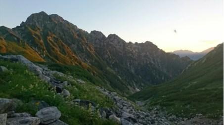 剣沢から剣岳のモルゲンロート