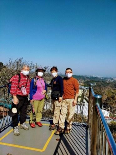 武山山頂の展望台