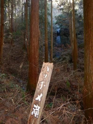 林の奥にハッチメ滝