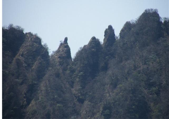 登山道は鋸岳岩峰の基部を巻いている