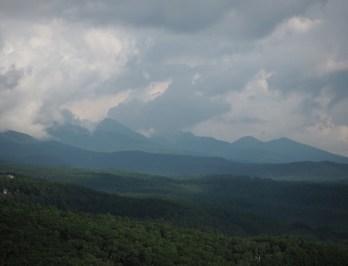 八ヶ岳の山々。これを山頂から見たかった