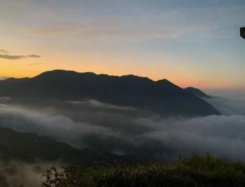 朝日岳~笠ヶ岳方面の稜線