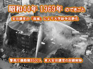 昭和45年 東大安田講堂
