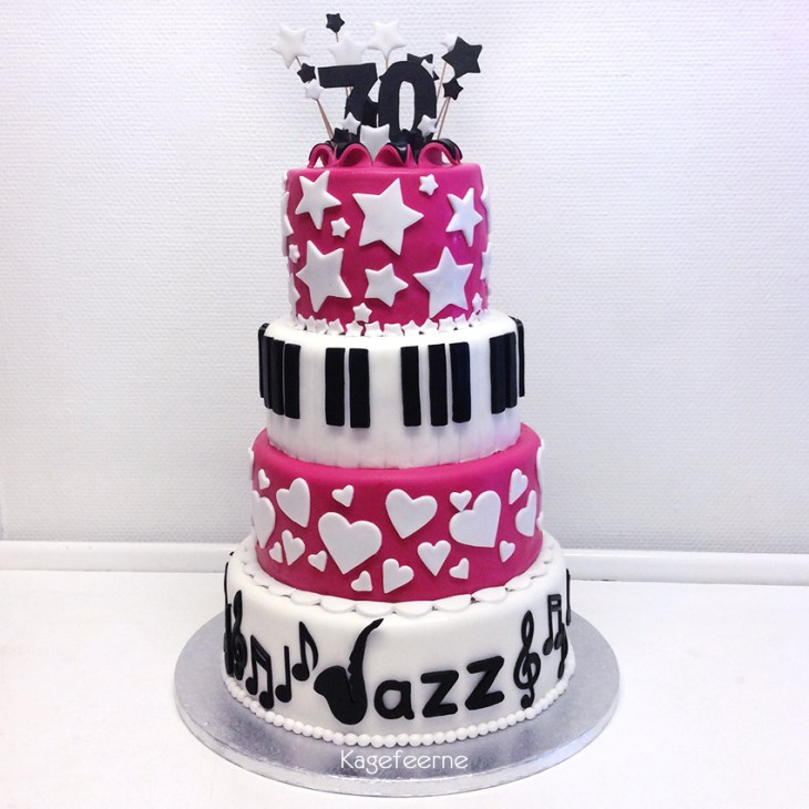 70 års jazz fødselsdagskage