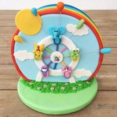 Cathrines Pariserhjuls kage til børnekonkurrencen ved Cake World Nordic