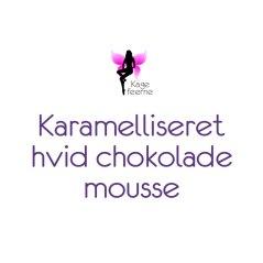 Karamelliseret hvid chokolade mousse overskrift til indlæg