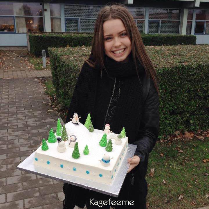 Clara med snemandskage