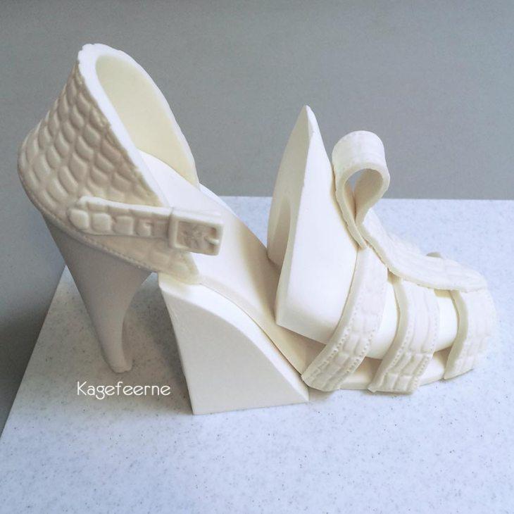 Fondant sko / sølv sandal