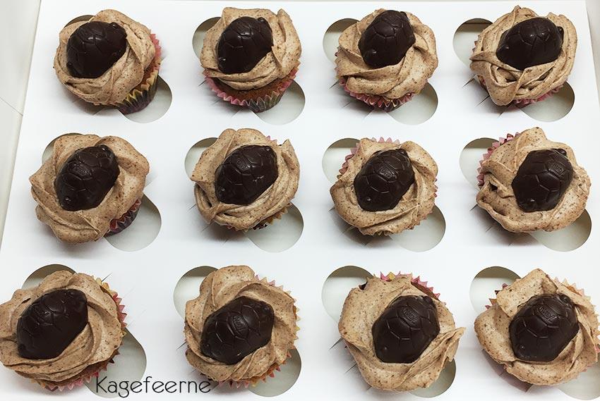 Toms skildpadde cupcakes med skildpaddecreme