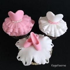 Ballet cupcakes - tåspidssko og tutu