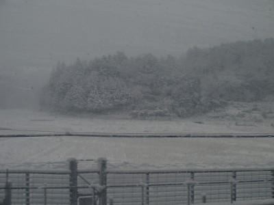 関ケ原は猛吹雪。