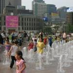 韓国の噴水