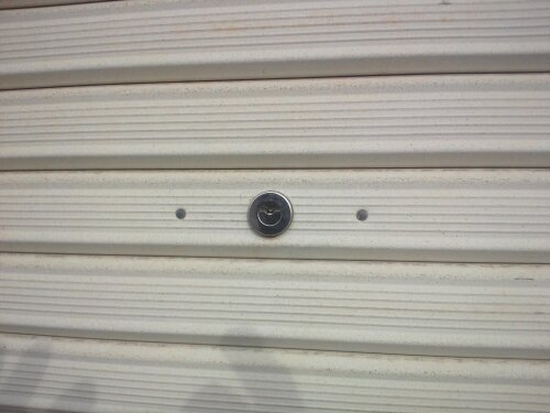 たつの市で倉庫のシャッター鍵開け 鍵交換 20120116