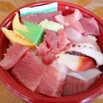 熊谷市佐谷田 熊谷食品卸売市場内「市場食堂」の海鮮丼+本まぐろ大トロぶつ切り