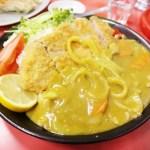 深谷市上柴町西3丁目「中華 一番」の特製カツカレーと餃子とワンタンメン