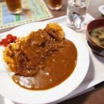 熊谷市中奈良「大衆食堂 たつみ」のカツカレー
