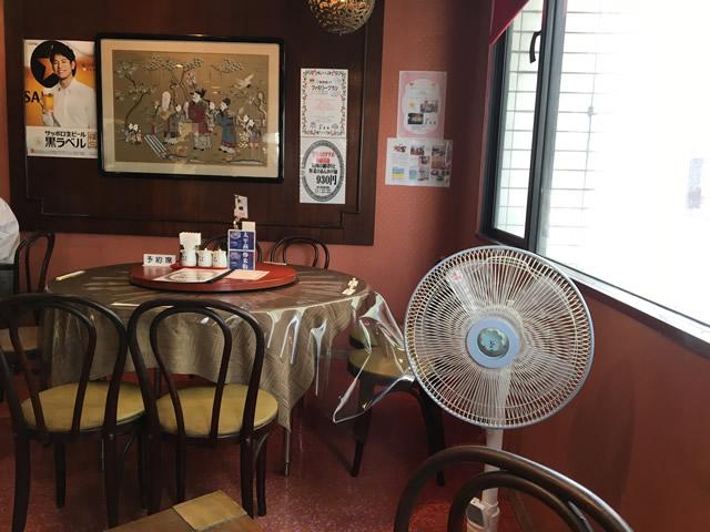 鹿児島の老舗中華料理屋、美華園の内観