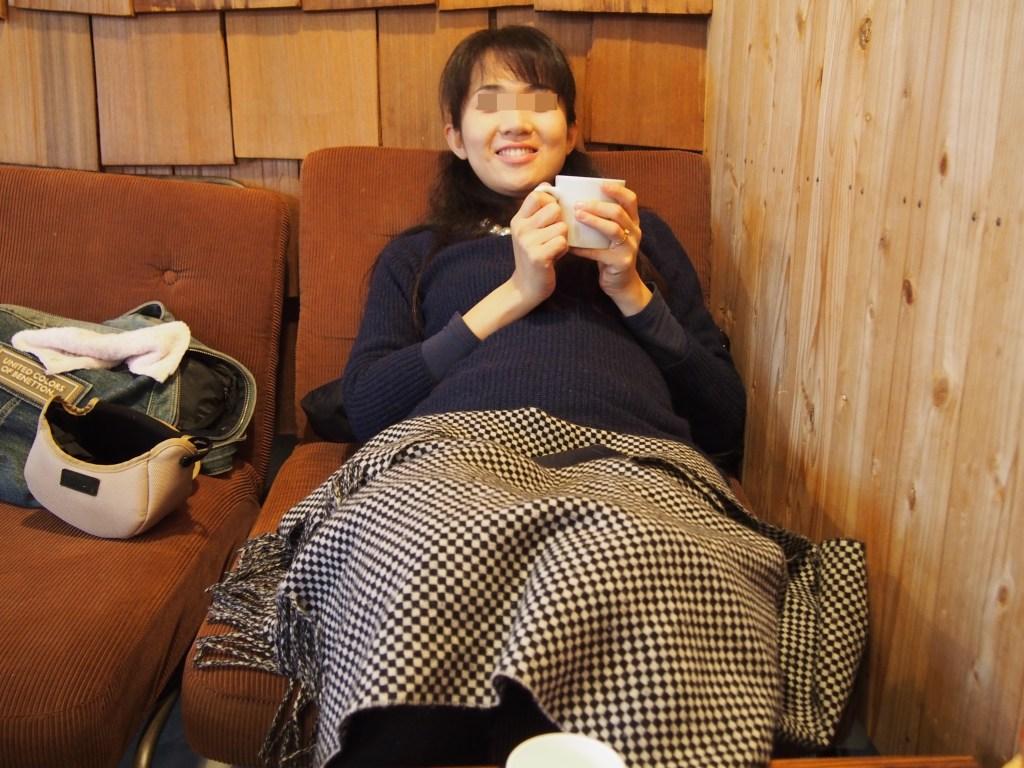 マザルバカフェのソファー