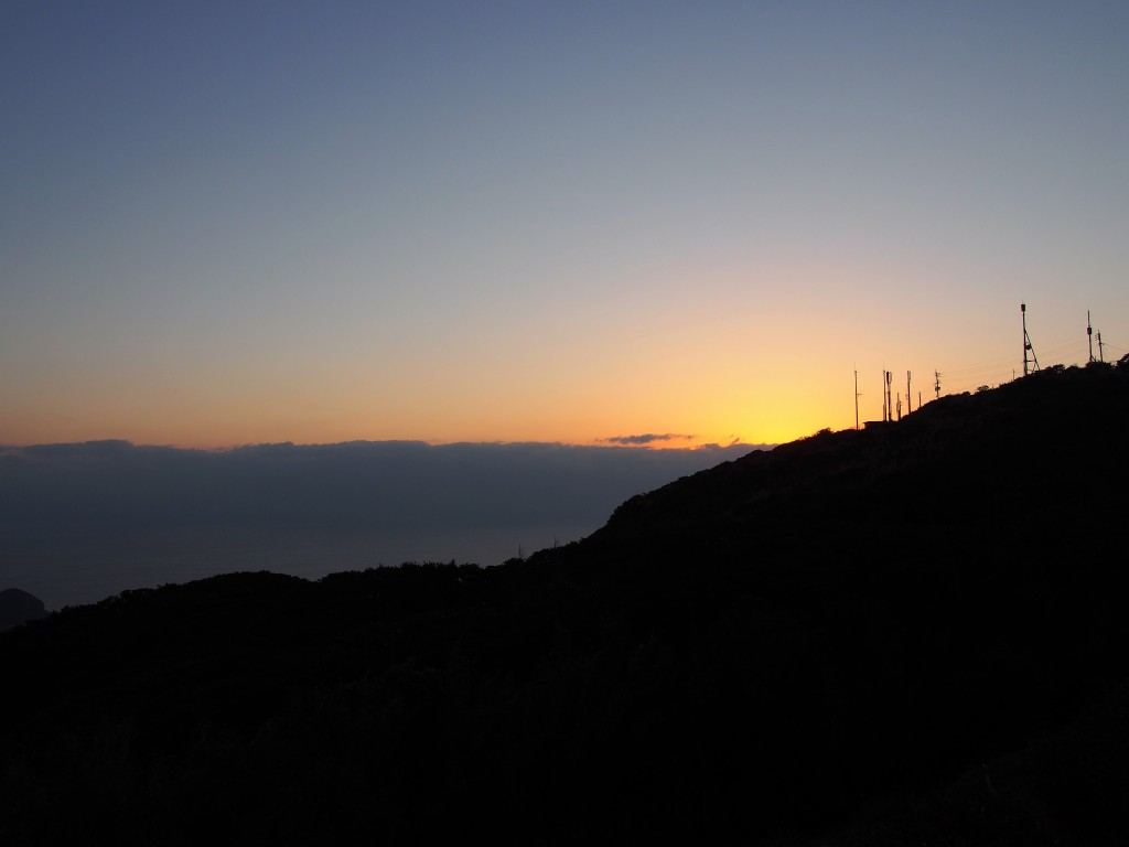 Sunset view of Mt. Oono